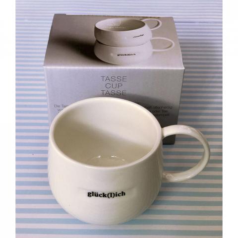Glücklich Tasse