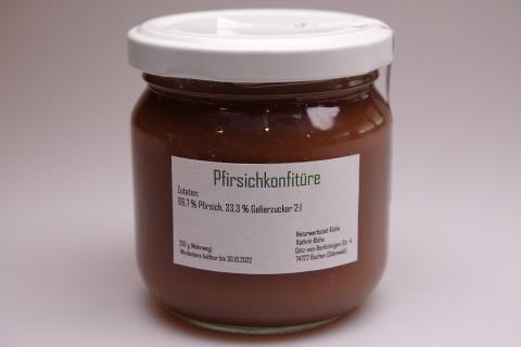 Pfirsichkonfitüre (verschiedene Sorten)
