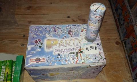 Party Popper Kleine partykanone mit Federmechanik einzel