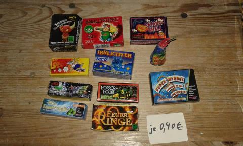 Jugendfeuerwerk verschiedene Produkte und Knallteufel