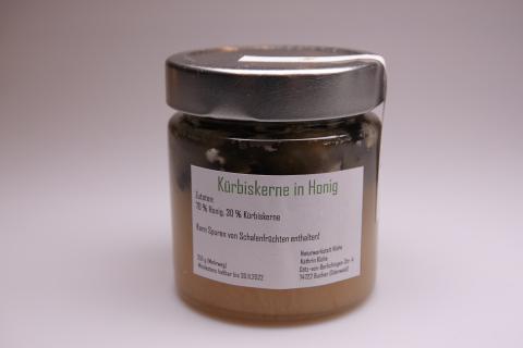 Honigkreation - Honig mit Kürbiskernen