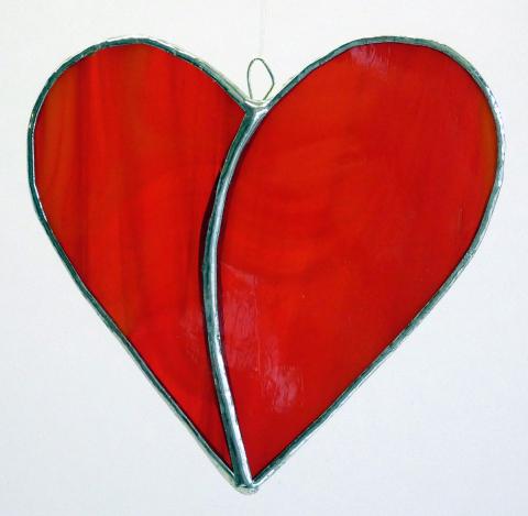 Herz klein, rot