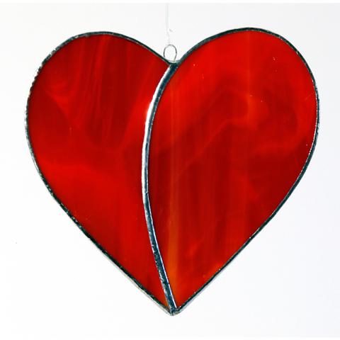 Herz groß, rot
