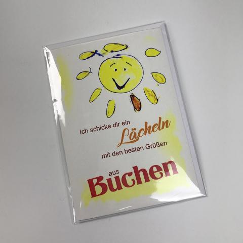 Grußkarten Buchen zum Klappen
