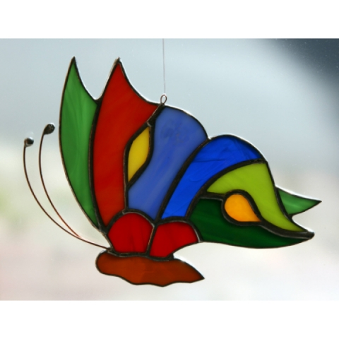 Schmetterling flach
