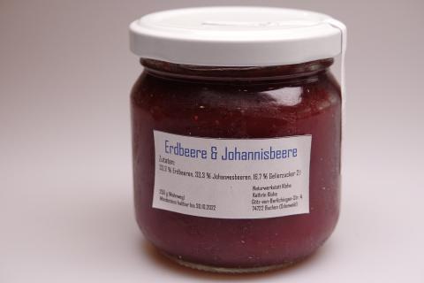 Erdbeerkonfitüren (verschiedene Sorten)